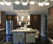 Brown Kitchen refacing Toronto white island
