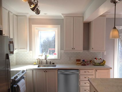 White Kitchen Cabinets Refacing