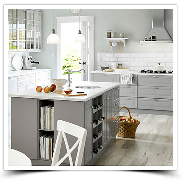 White kitchen refacing Toronto job